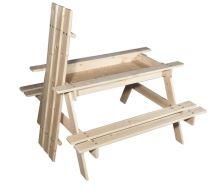 Dětský dřevěný piknikový stolek s úložným prostorem