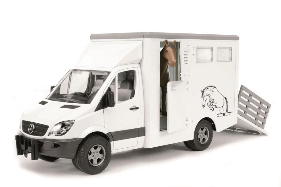 BRUDER Nákladní auto MERCEDES BENZ - přepravník koní