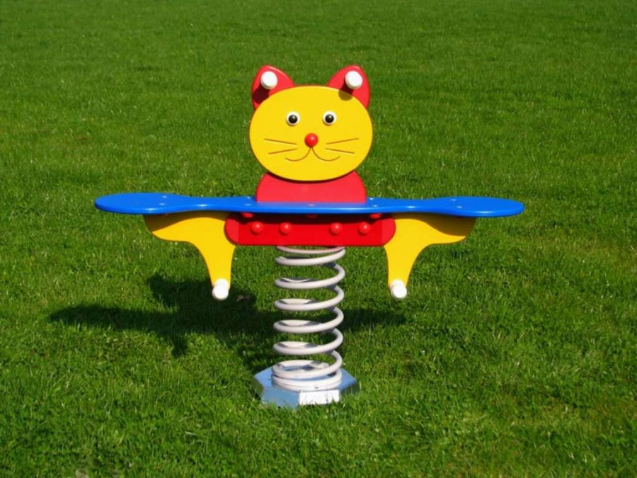 Monkey´s pružinová houpačka kočka - dvousedadlová