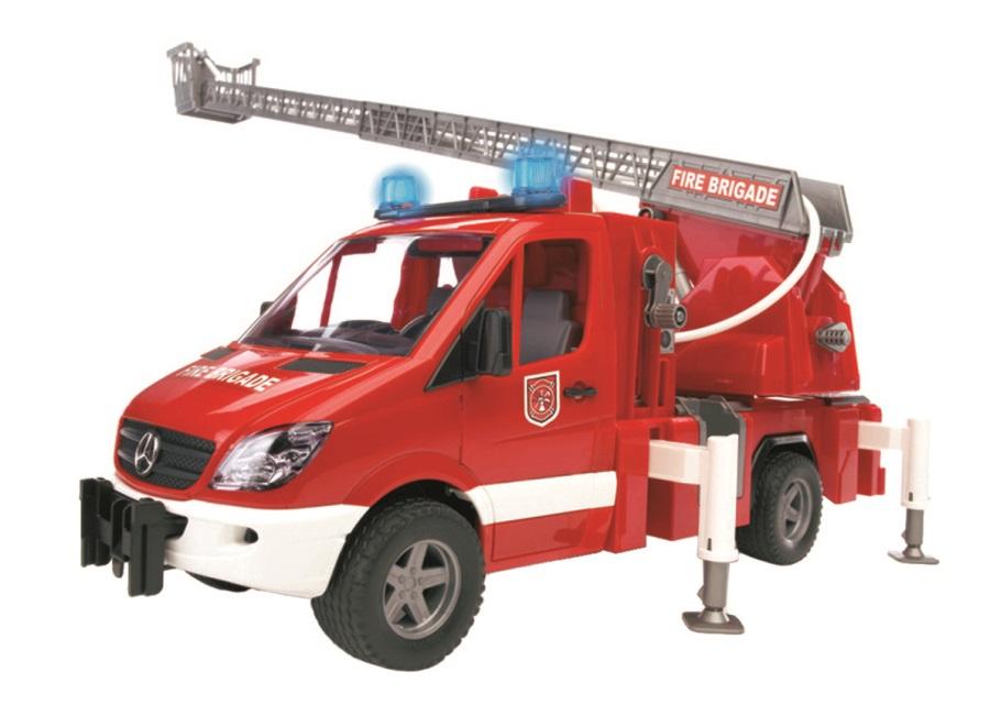 BRUDER Nákladní auto Mercedes Benz Sprinter Požární s žebříkem