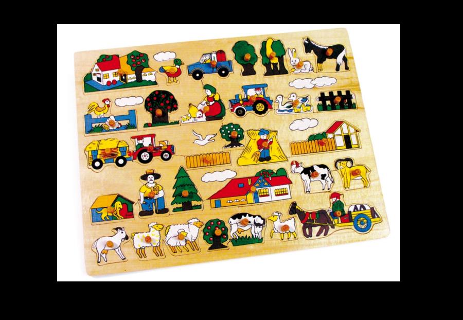 Puzzle dřevěné Farma velká