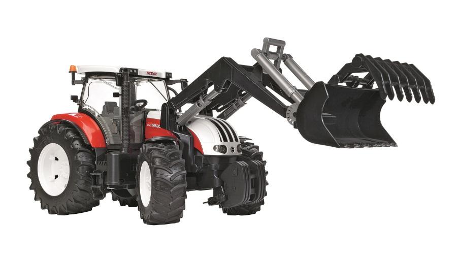 BRUDER- Traktor STEYR CVT 6230 s čelním nakladačem
