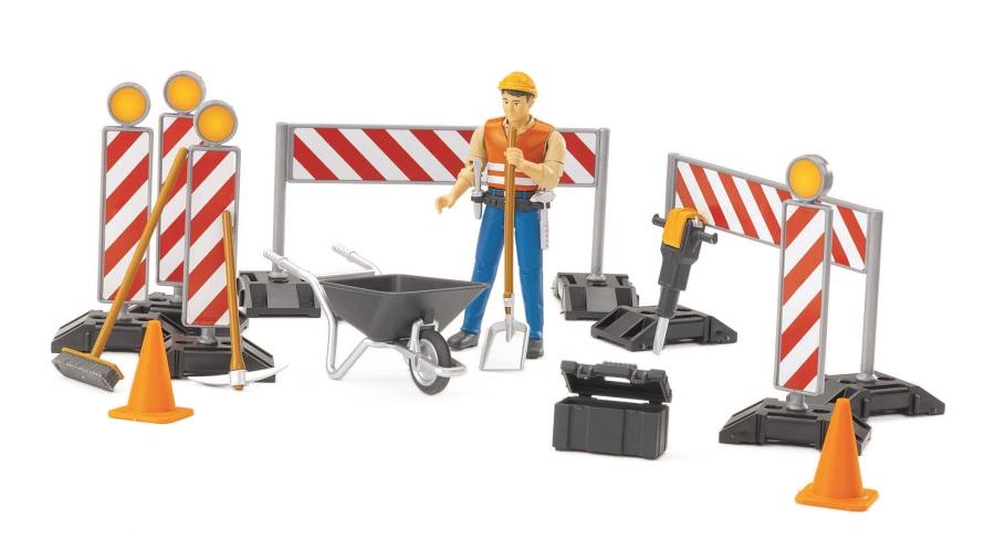 BRUDER - BWORLD Figurka s nářadím - Stavební set