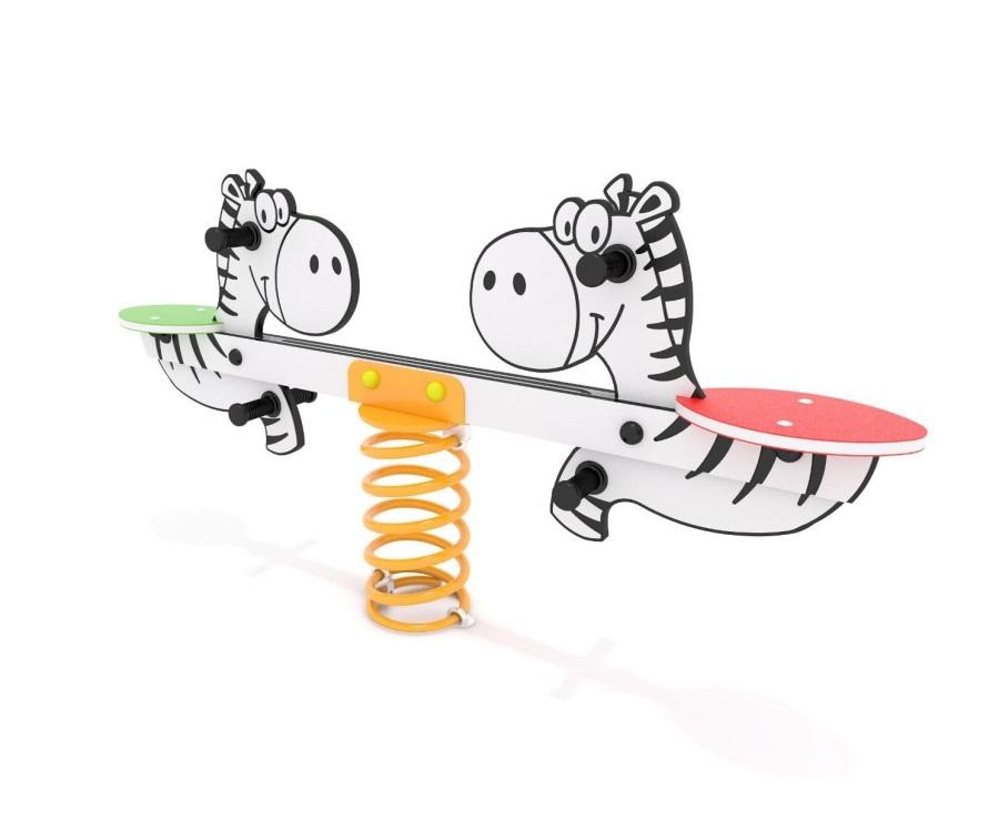 Monkey´s pružinová dvojhoupačka zebra