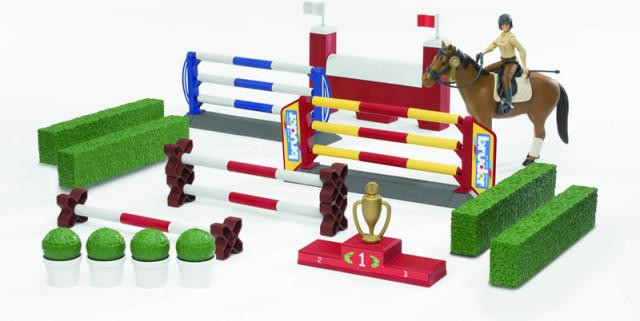 BRUDER - BWORLD Překážky, Figurka, Kůň s příslušenstvím