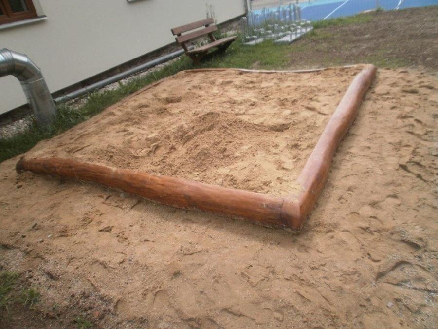Pískoviště 3x3m  z akátu