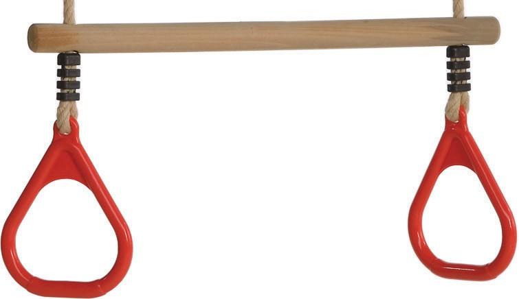 HRAZDA dřevěná s plastovou rukojetí ČERVENÁ