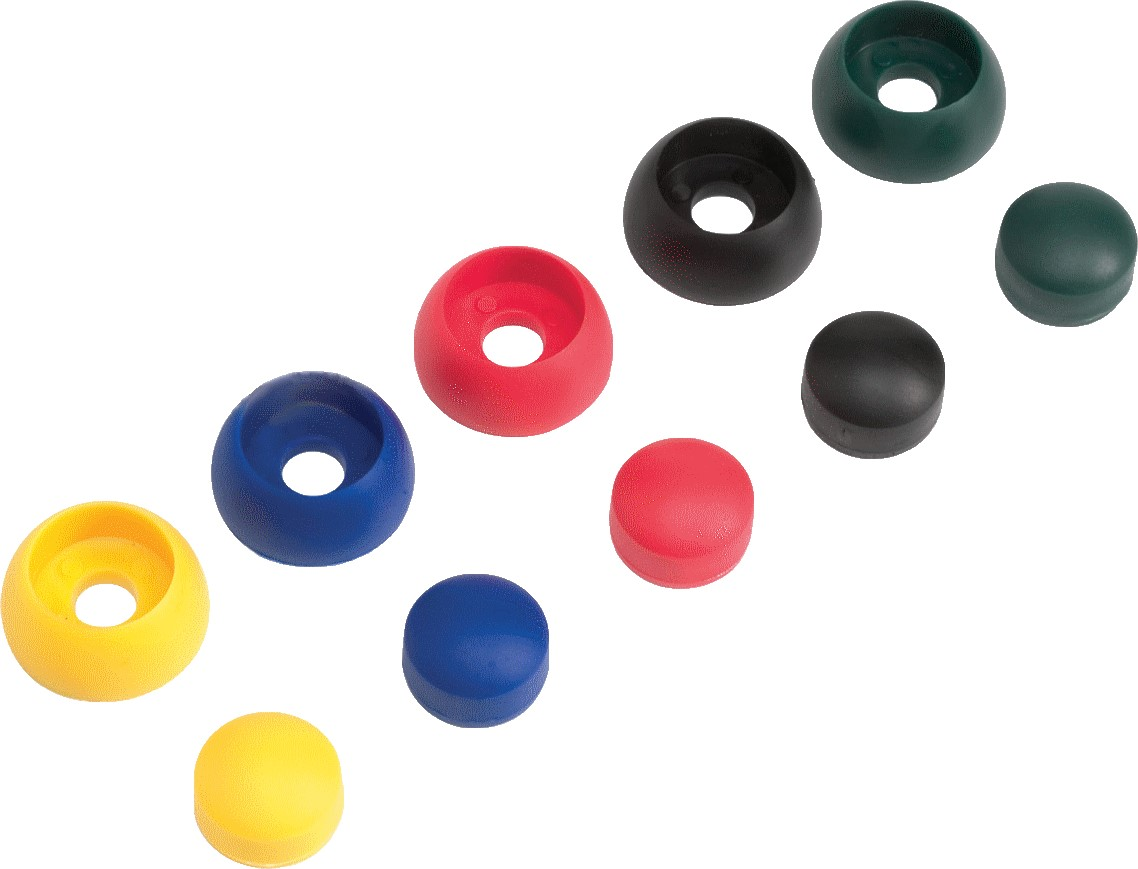 Krytky šroubů 8 / 10mm žlutá 10ks / bal.